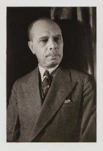 Carl Van Vechten - James Weldon Johnson, from the portfolio O Write My Name American Portraits, Harlem Heroes