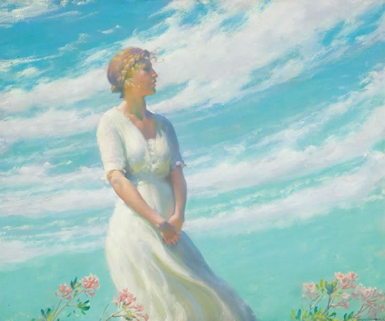 May Breeze by Charles Courtney Curran (1861-1942, United States) | Art Reproduction | WahooArt.com