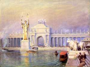 Charles Courtney Curran - East End of the Grand Basin, World-s Columbian Exposition