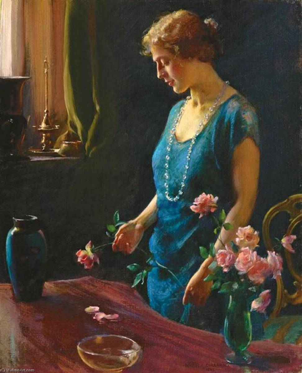 Memories, 1924 by Charles Courtney Curran (1861-1942, United States) | Museum Quality Reproductions | WahooArt.com