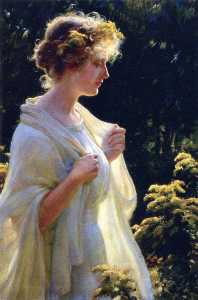 Charles Courtney Curran - The Golden Profile