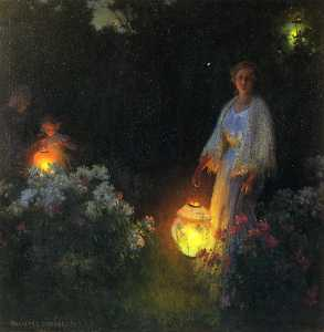 Charles Courtney Curran - The Lanterns