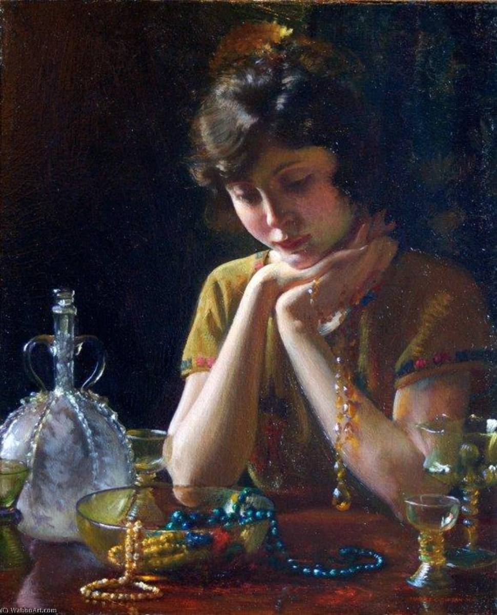 Order Reproductions | Heirlooms, 1922 by Charles Courtney Curran (1861-1942, United States) | WahooArt.com