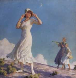 Charles Courtney Curran - Ladies on a Hill (also known as High Country)