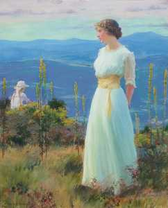 Charles Courtney Curran - Far Away Thoughts