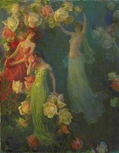Charles Courtney Curran - The Perfume of Roses