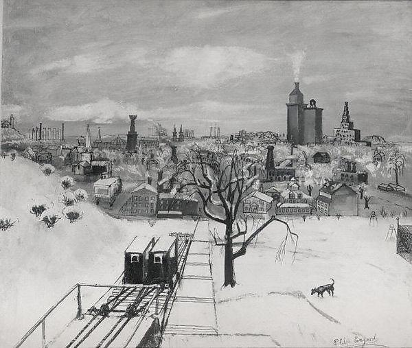 Kalamazoo in Winter, Wood by Philip Evergood (1901-1973)