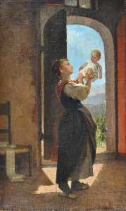Luigi Bechi - Mother and Child