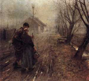 Fritz Von Uhde - Walking to Bethlehem