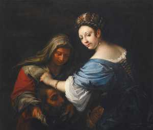 Order Famous Paintings Reproductions : Judith with the Head of Holofernes, 1645 by Francesco Del Cairo (1607-1665) | WahooArt.com