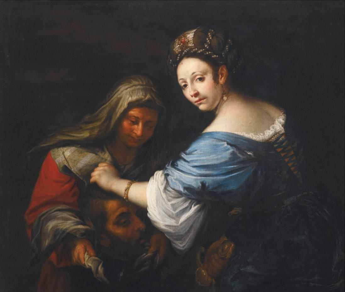 Judith with the Head of Holofernes, 1645 by Francesco Del Cairo (1607-1665) | Famous Paintings Reproductions | WahooArt.com