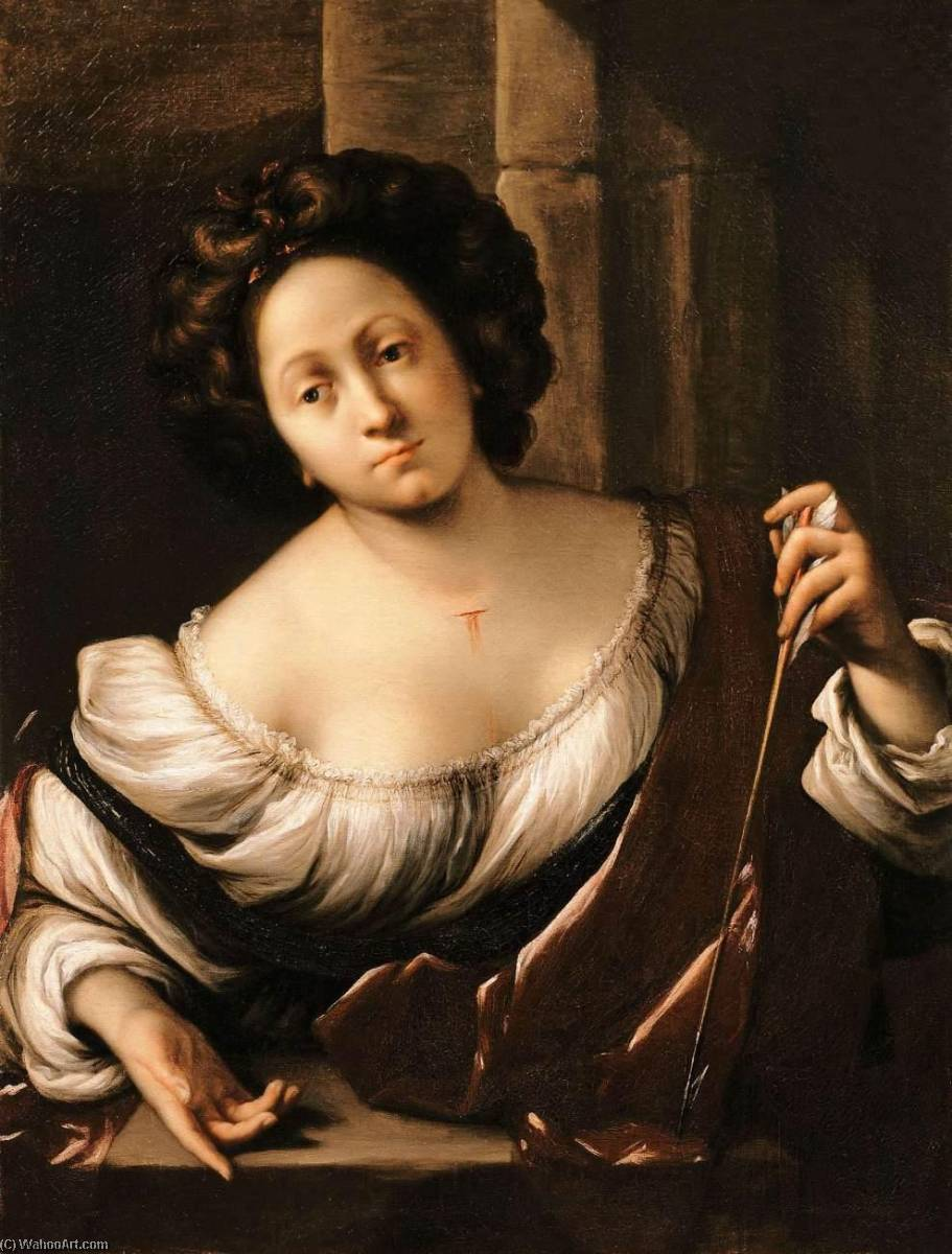 St Christina, Oil On Canvas by Francesco Del Cairo (1607-1665)
