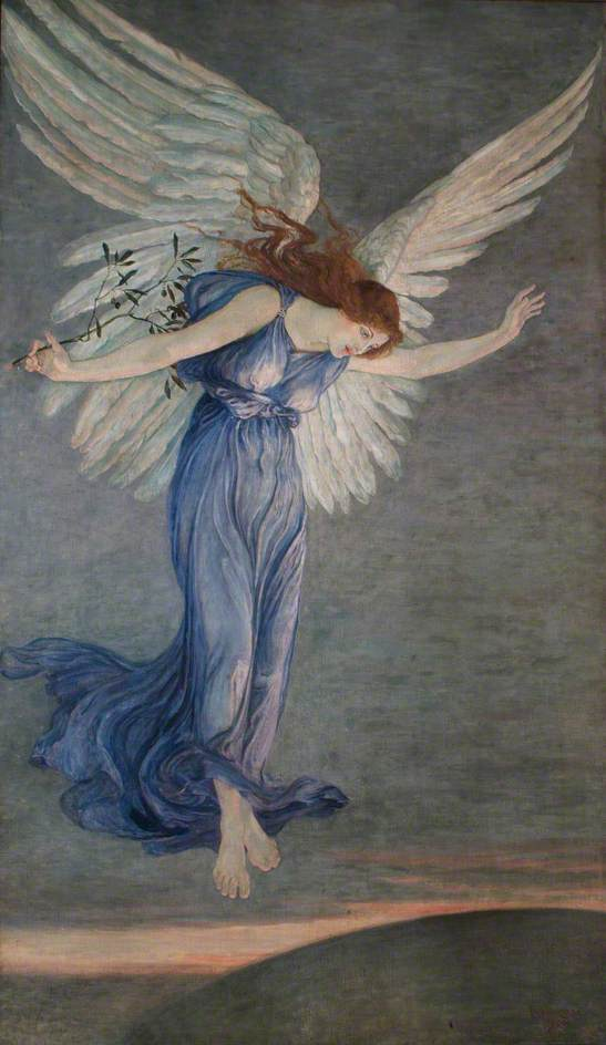 Order Reproductions | The Angel of Peace, 1900 by Walter Crane (1845-1915, United Kingdom) | WahooArt.com