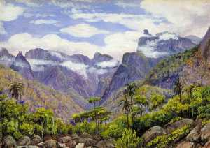 Marianne North - Noonday View in the Organ Mountains, Brazil, from Barara