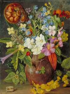Marianne North - Group of Wild Flowers of Java, from Tosari