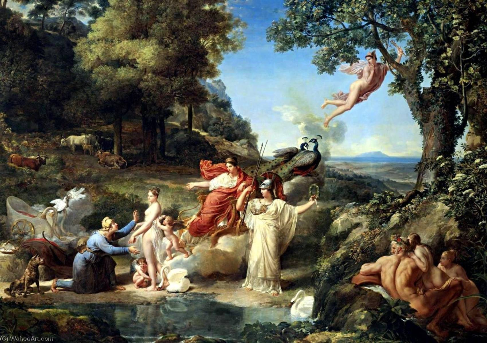 The Judgment of Paris, 1812 by Guillaume Lethière (1760-1832, France)