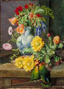 Marianne North - Group of Flowers, Painted in Teneriffe