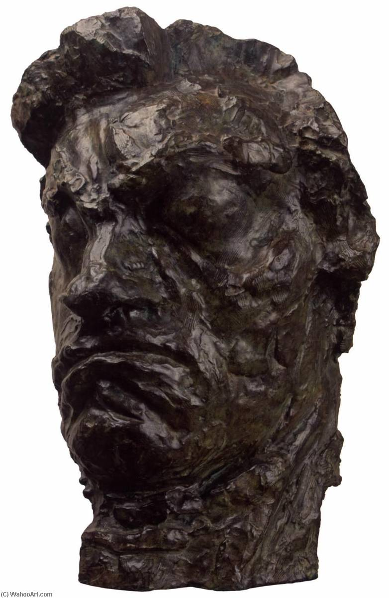 Large Tragic Mask of Beethoven, Bronze by Émile Antoine Bourdelle (1861-1929)