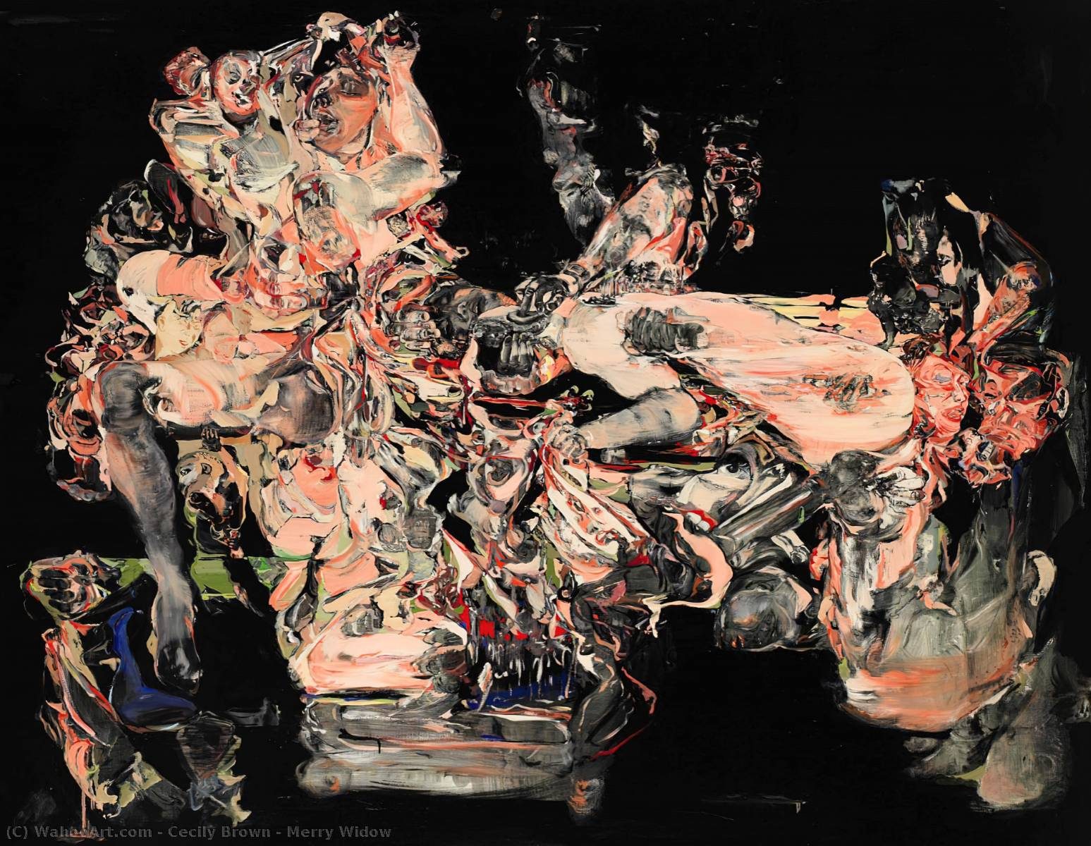 Merry Widow, Oil On Canvas by Cecily Brown