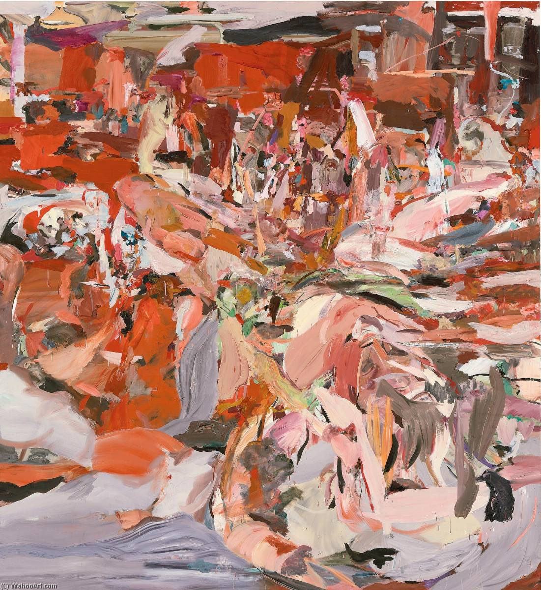 Lady with a Little Dog, Oil On Canvas by Cecily Brown