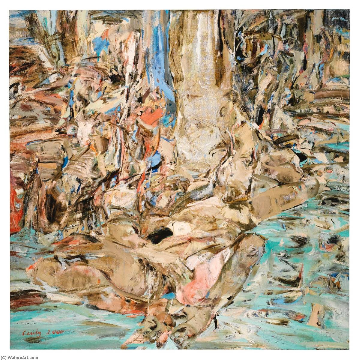 Summerstorm, Oil On Canvas by Cecily Brown