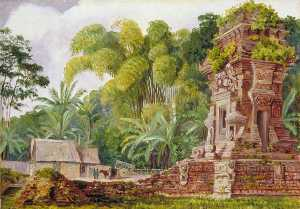 Marianne North - Small Hindu Temple of Kidel, Java
