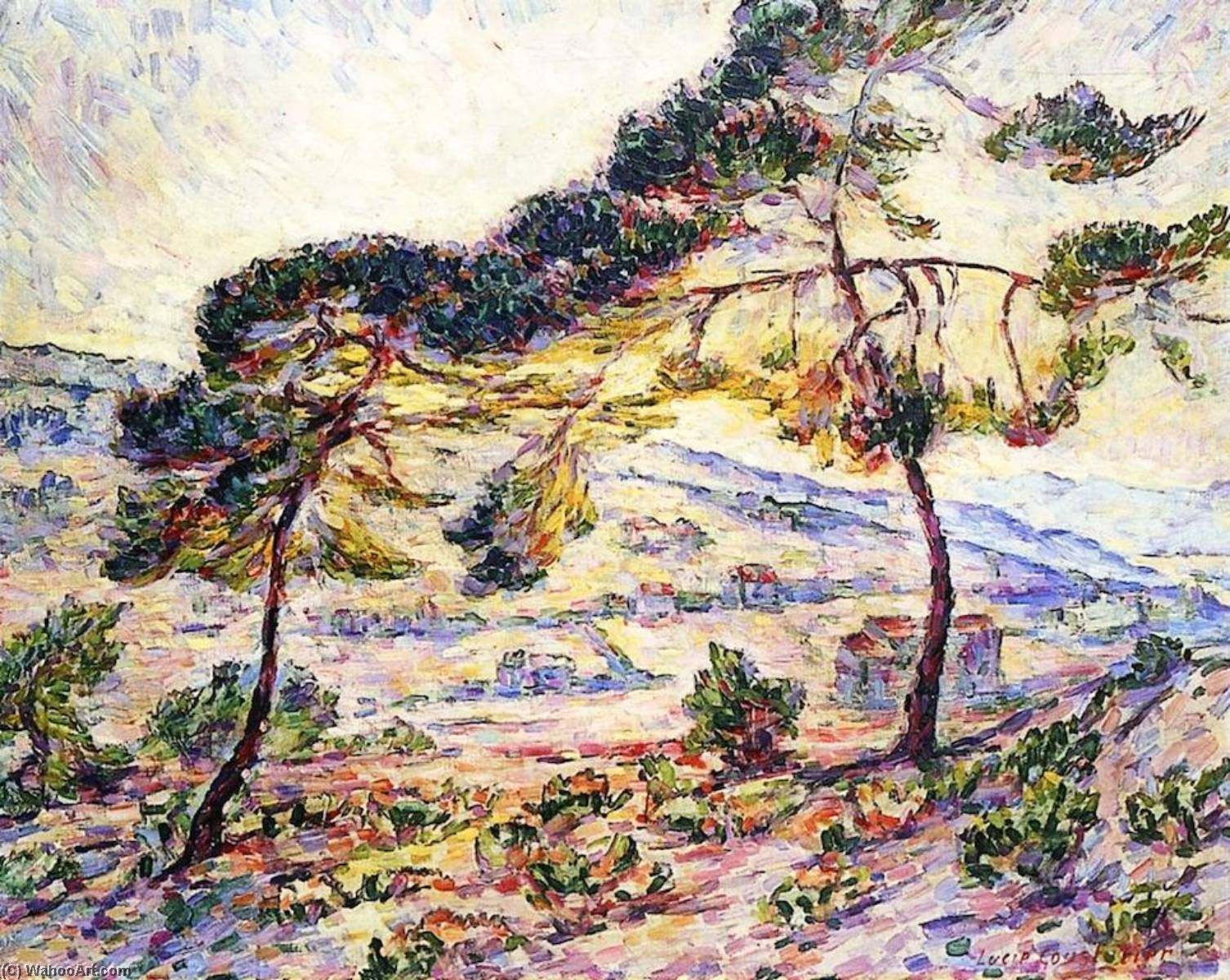 Order Paintings Reproductions | Fauve Landscape View of Provence, 1906 by Lucie Cousturier (1876-1925, France) | WahooArt.com