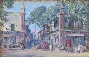 Marianne North - The Street of Blood, Delhi