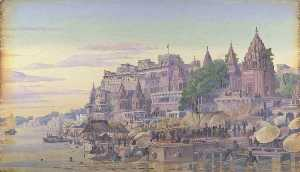 Marianne North - 'Benares. India. October 23d 1878'