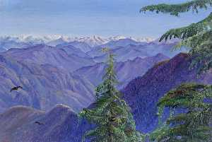 Marianne North - From Nahl Dehra near Simla (Shimla), Himachal Pradesh, India