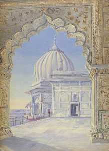 Marianne North - 'The Palace. Delhi. India. Novr. 1878'