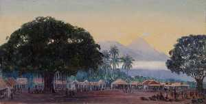 Marianne North - Smeeroc from Market of Turnpang, Java