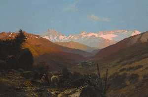Thomas Jacques Somerscales - A Scene in the Andes, Chile