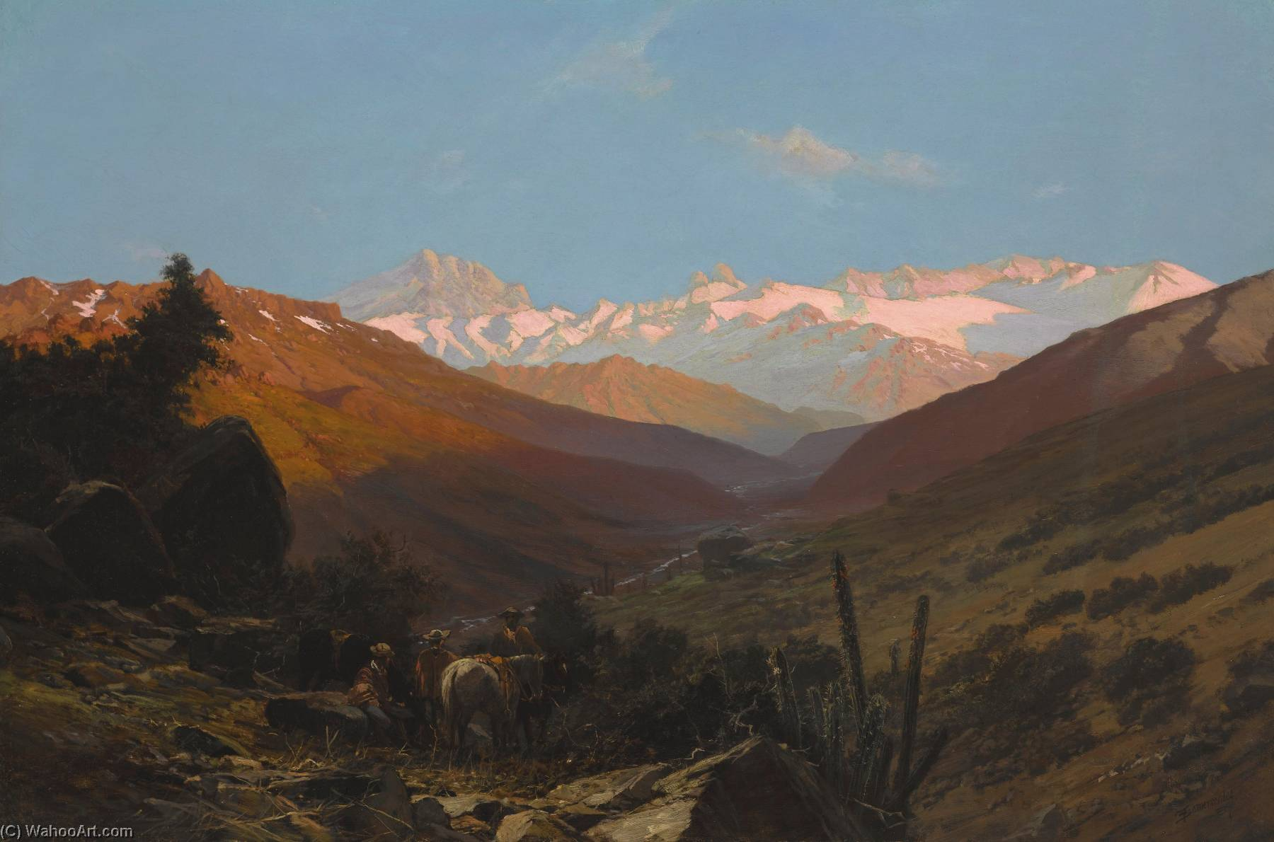 A Scene in the Andes, Chile, Oil On Canvas by Thomas Jacques Somerscales (1842-1927)