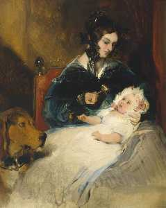 Edwin Henry Landseer - The Duchess of Abercorn and Child