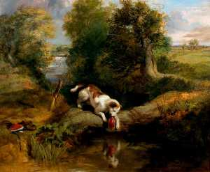 Edwin Henry Landseer - The Dog and the Shadow