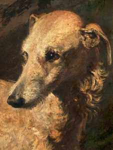 Edwin Henry Landseer - Head of 'Driver', a Deerhound Owned by the 5th Duke of Gordon