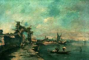 Francesco Lazzaro Guardi - Coast Scene