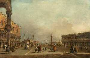 Francesco Lazzaro Guardi - Venice The Piazzetta di San Marco