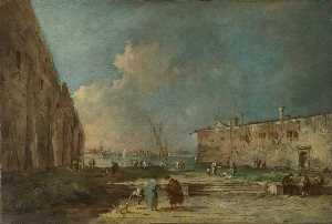 Francesco Lazzaro Guardi - A View near Venice ( )