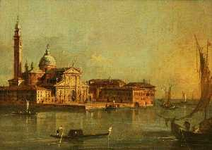 Francesco Lazzaro Guardi - View of the Island of San Giorgio Maggiore, Venice