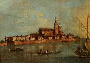 Francesco Lazzaro Guardi - View of the Island of San Andrea della Certosa, Venice