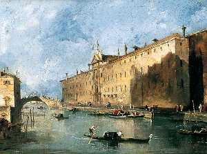 Francesco Lazzaro Guardi - The 'Rio dei mendicanti'