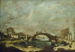 Francesco Lazzaro Guardi - Capriccio Landscape