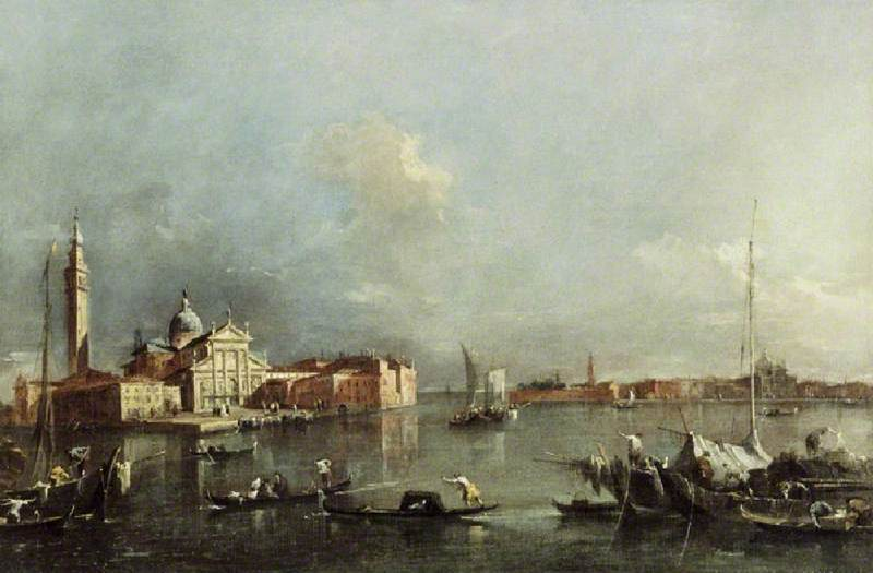 View of Venice by Francesco Lazzaro Guardi (1712-1793, Italy) | Art Reproduction | WahooArt.com