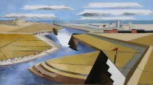 Paul Nash - The Rye Marshes, East Sussex