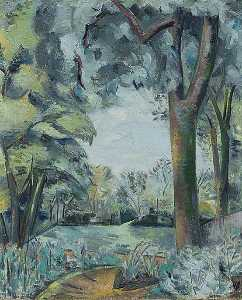 Paul Nash - Landscape (verso)
