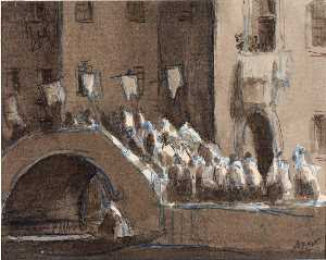 Herman Armour Webster - Procession in the Venitian Night