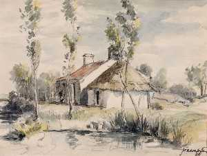 Herman Armour Webster - The Cottage on the Riverside