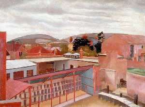 Stanley Spencer - The Poultry Market, Petersfield